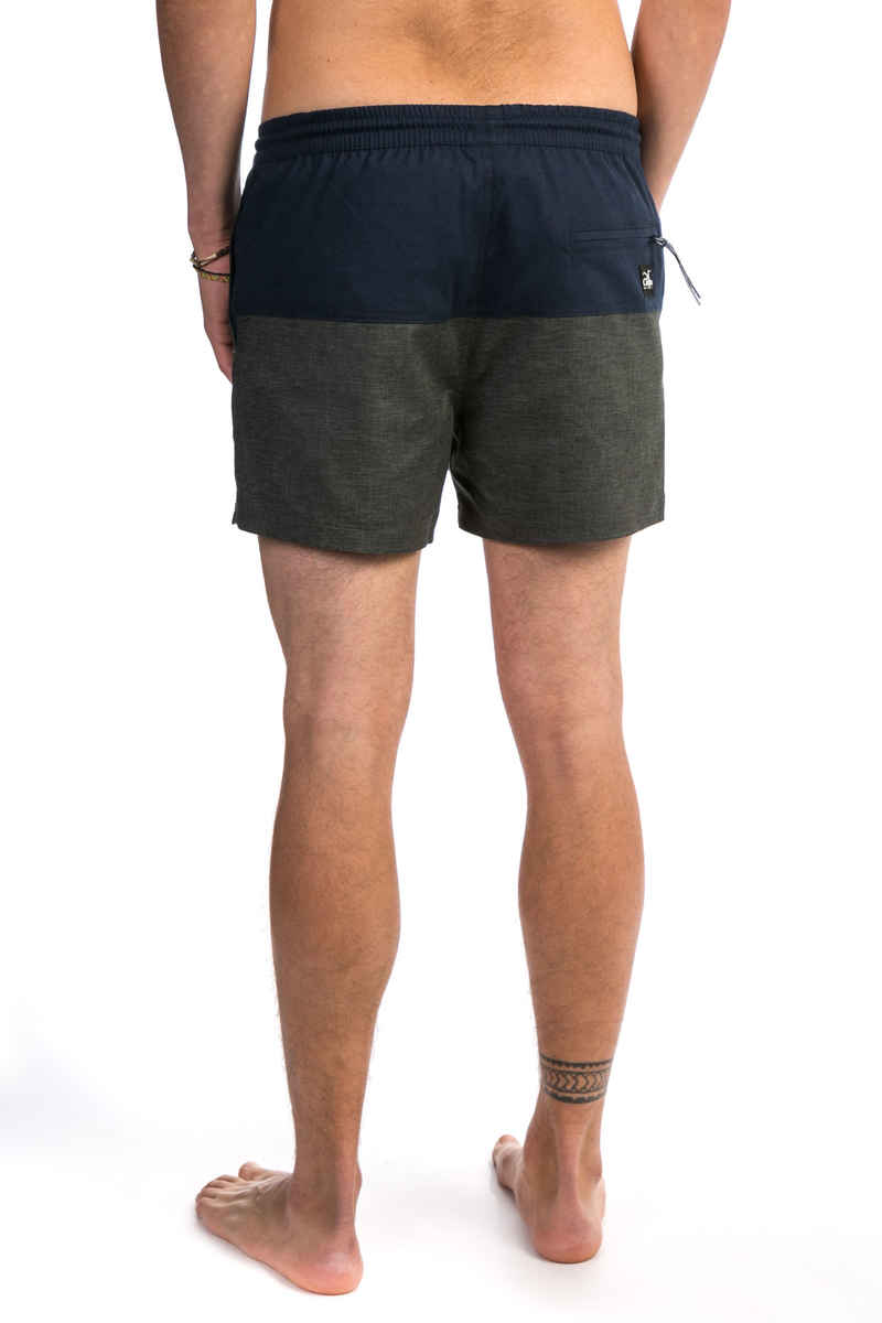 Cleptomanicx Hemp Jam Short Boardshorts (heather dark grey dark navy)