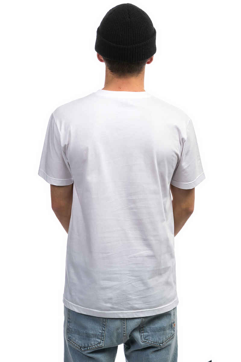Cleptomanicx Global T-Shirt (white)