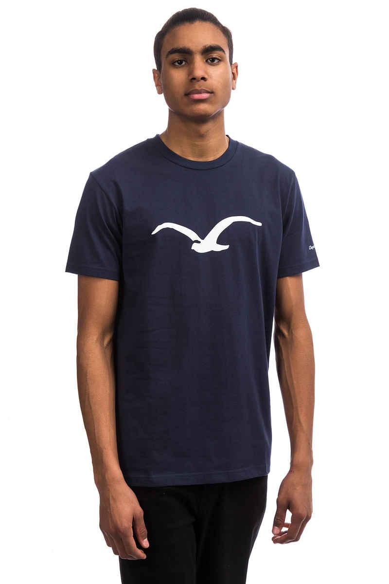Cleptomanicx Möwe T-Shirt (dark navy white)
