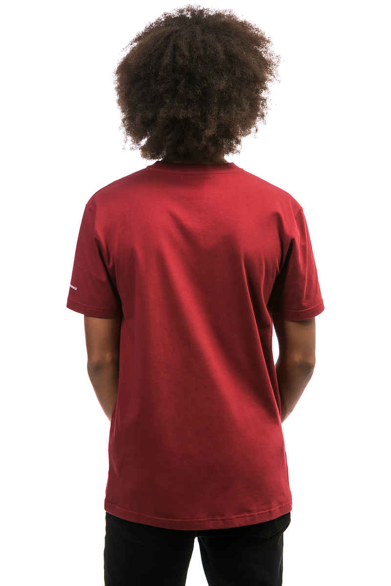 Cleptomanicx Möwe T-Shirt (merlot red white)