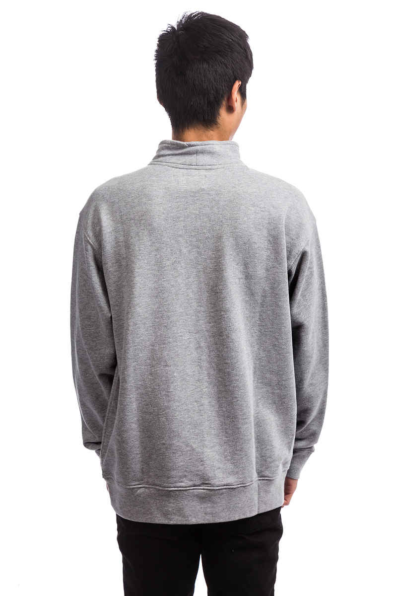 Obey Palisade Mock Neck Sweatshirt (heather grey)