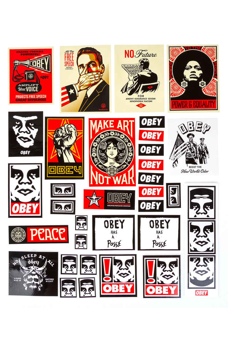 Obey Pack 4 Sticker (assorted)