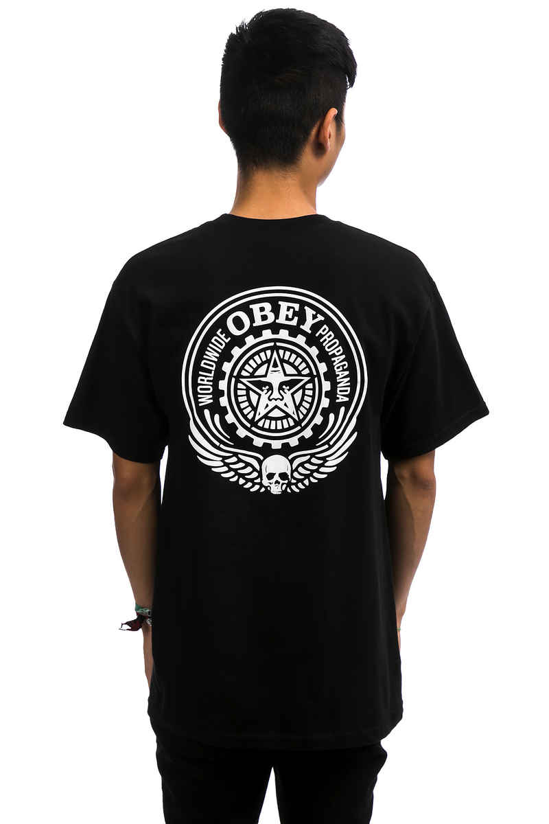 Obey Skull And Wings T-Shirt (black)