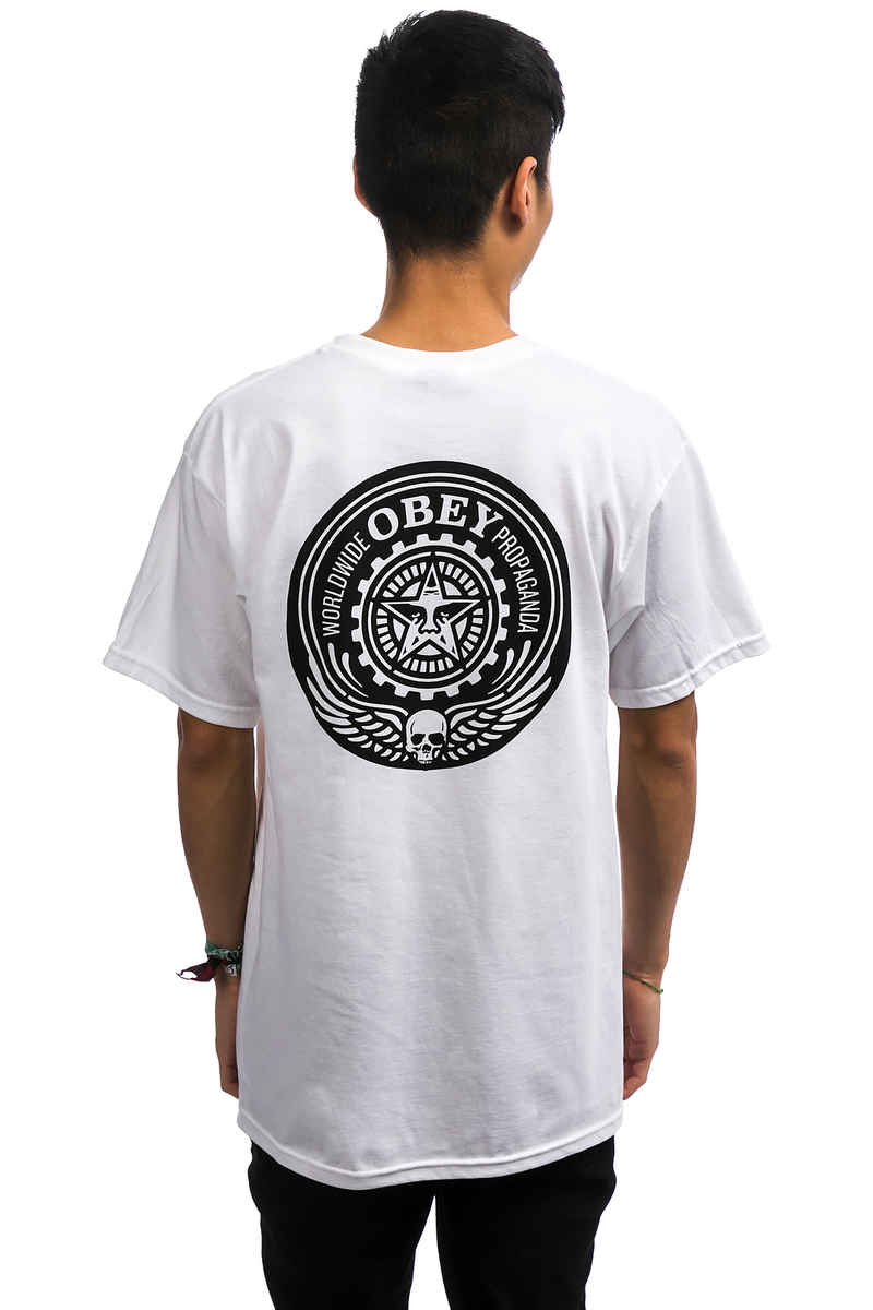 Obey Skull And Wings T-Shirt (white)