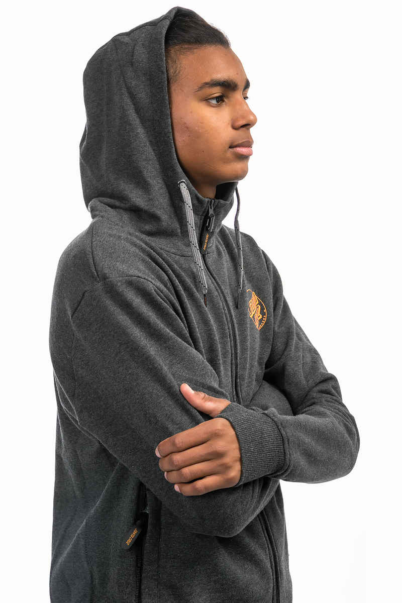 Santa Cruz Simple Dot Zip-Hoodie (carbon melange)