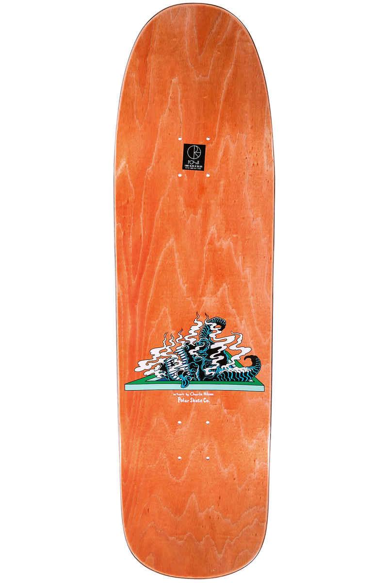 """Polar Skateboards Halberg Beast Mode 9.25"""" Deck (orange)"""