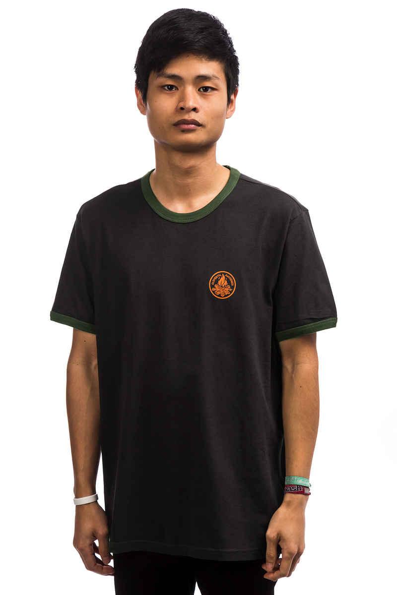 Element Awareness Ringer Camiseta (off black)