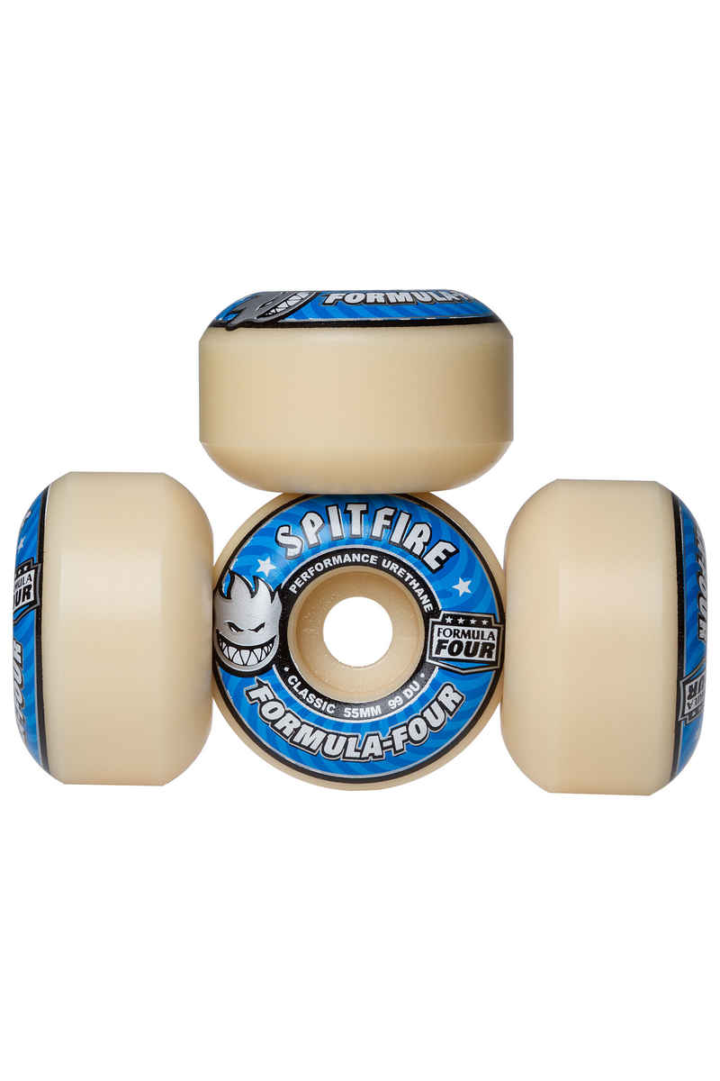 Spitfire Formula Four Classic Wheels (white blue) 55mm 99A 4 Pack