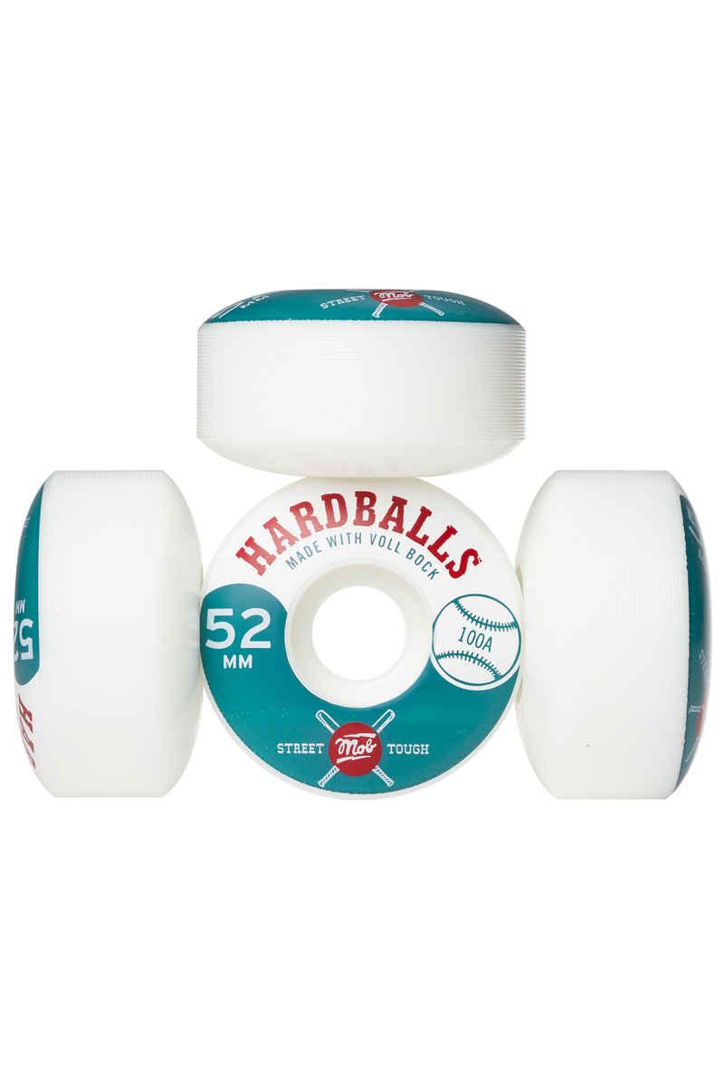 MOB Skateboards Hardballs Roue (white) 52mm 100A 4 Pack