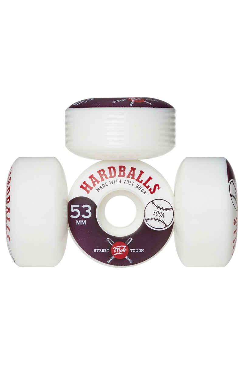 MOB Skateboards Hardballs Rollen (white) 53mm 100A 4er Pack