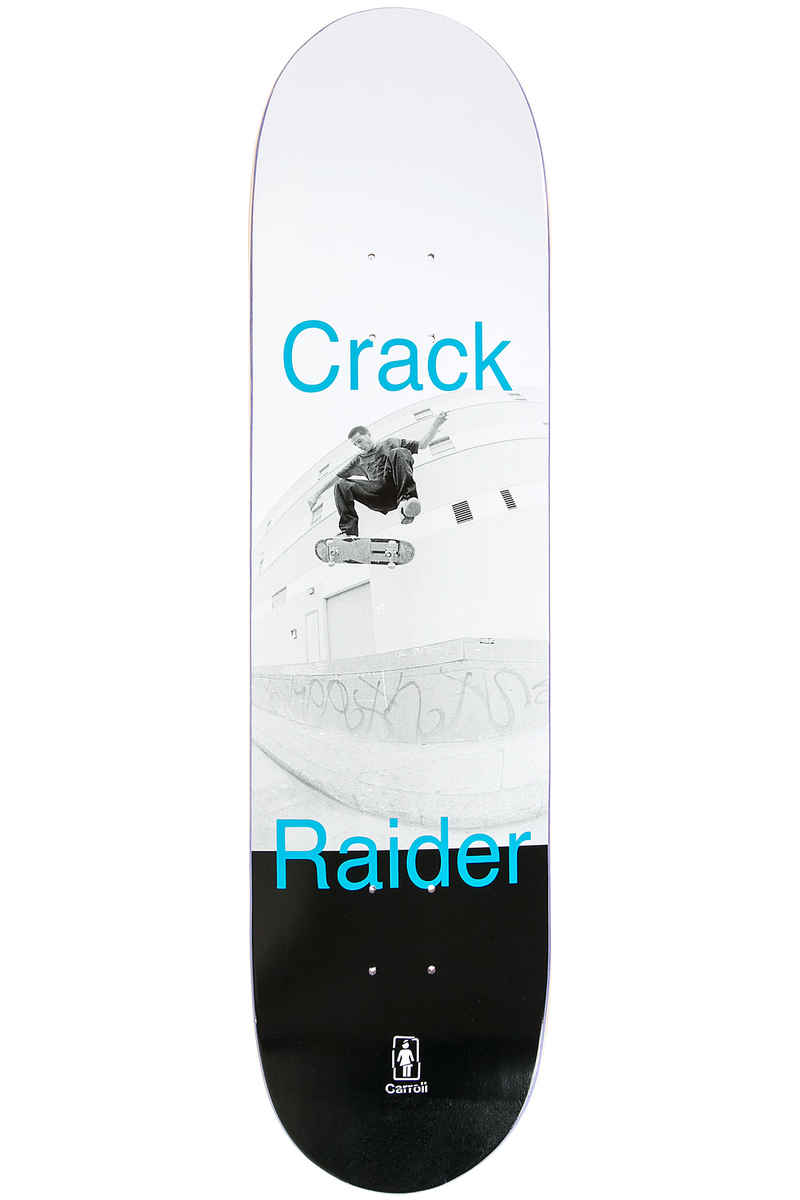 "Girl Carroll Crack Raider 8.375"" Deck (white black)"