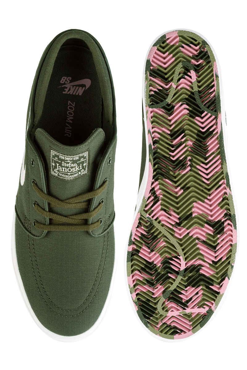 Nike SB Zoom Stefan Janoski Canvas Shoes (sequoia light bone summit white)