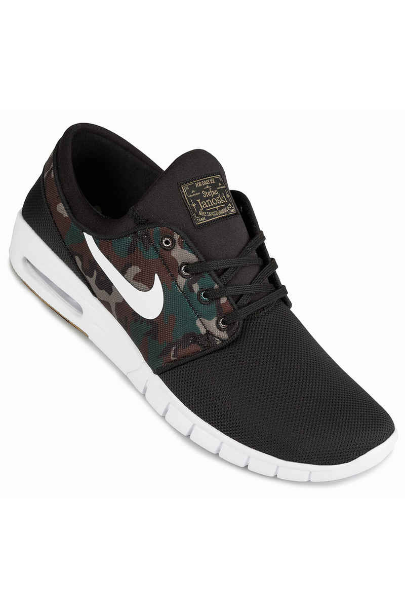 Nike SB Stefan Janoski Max Chaussure (black white medium olive)