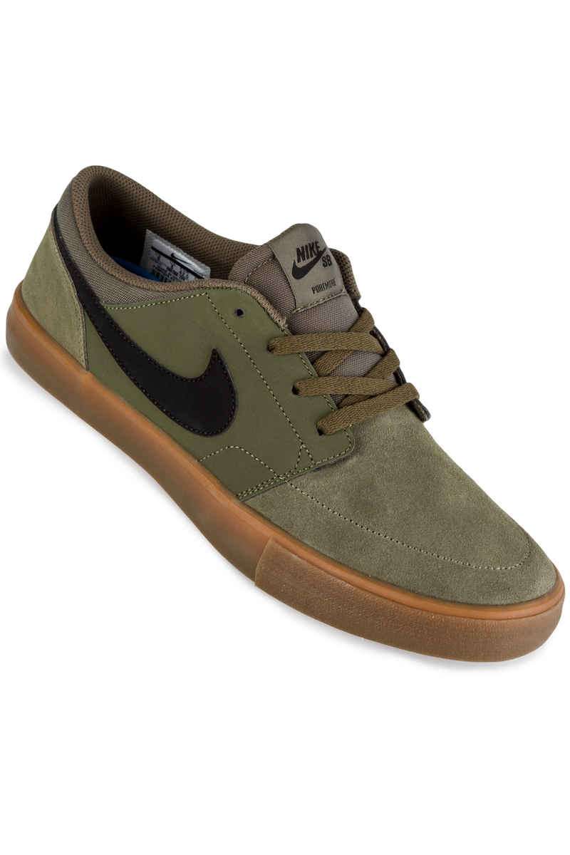Nike SB Solarsoft Portmore II Shoes (medium olive black)