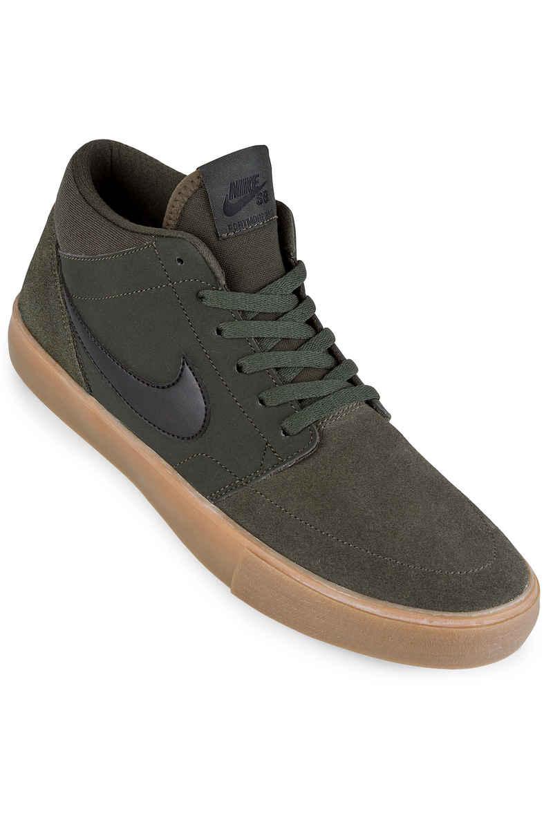 Nike SB Solarsoft Portmore II Mid Shoes (sequoia black gum)