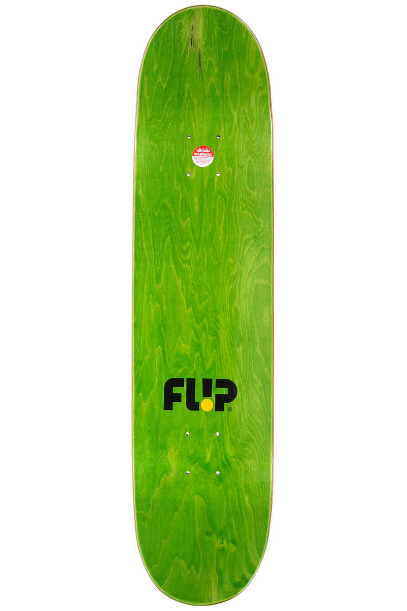 "Flip HKD Stripes 7.75"" Deck (yellow)"
