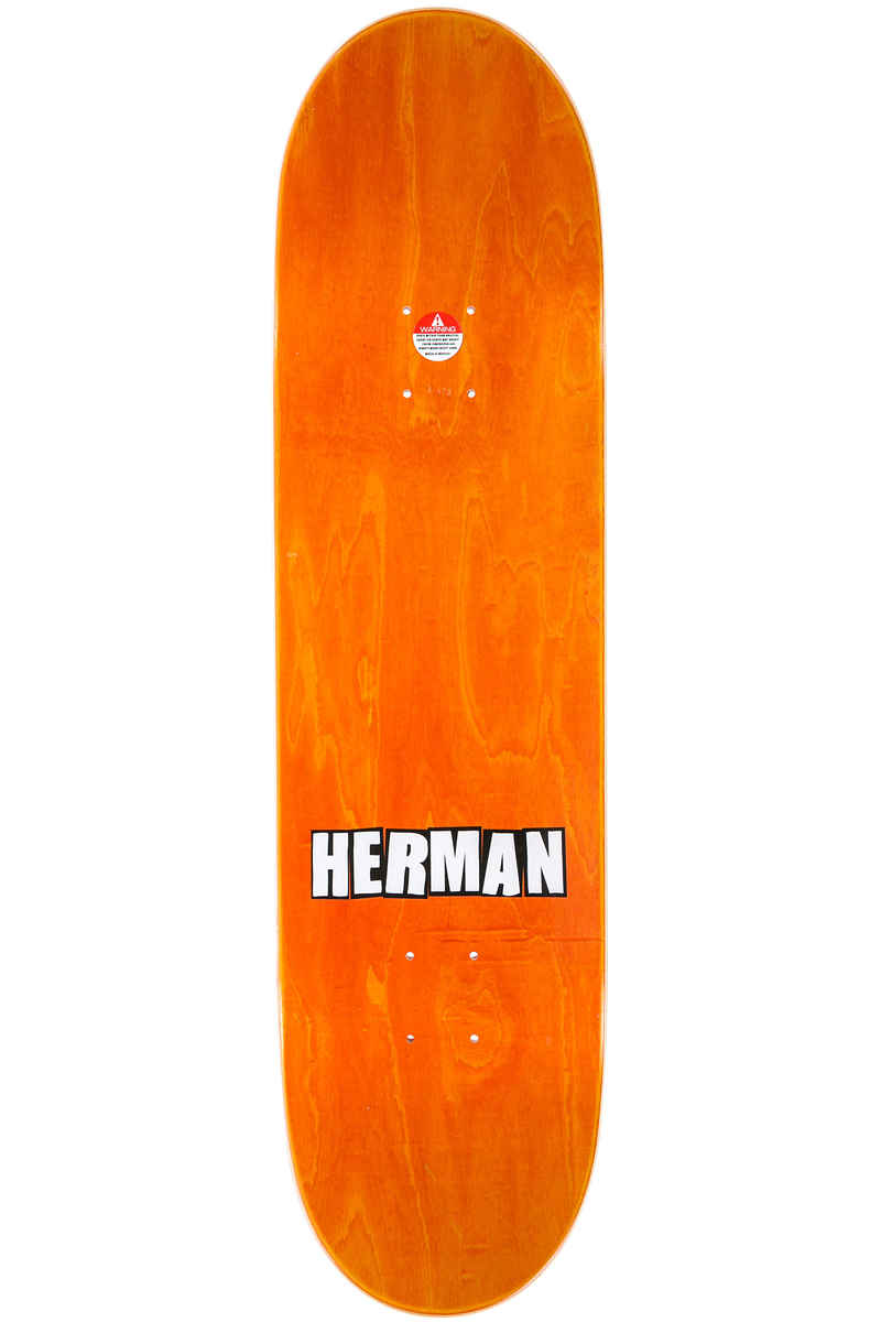 "Baker Herman Brand Name Pixelated 8.475"" Deck (orange)"