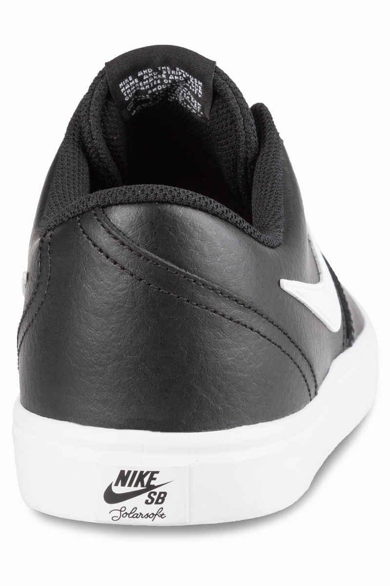 Nike SB Check Solarsoft Leather Shoes (black white)