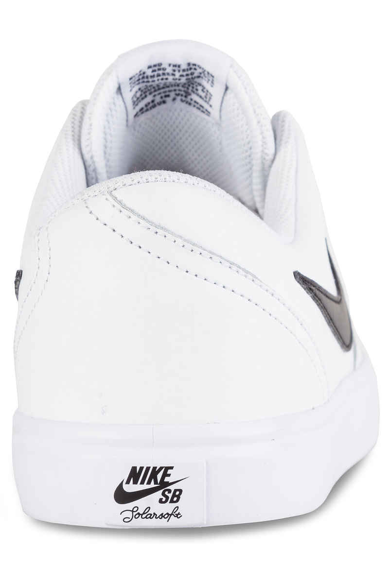 Nike SB Check Solarsoft Leather Chaussure (white black)