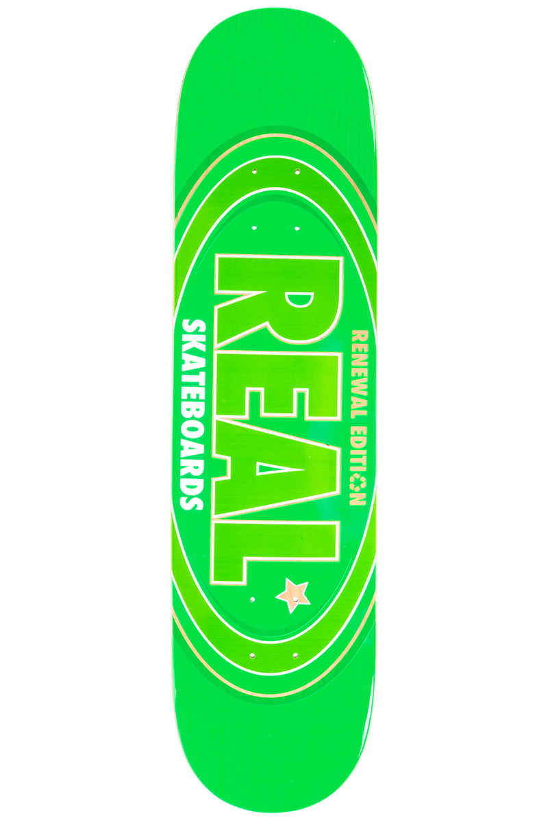 "Real Team Oval Remix Renewal 7.75"" Deck (green)"