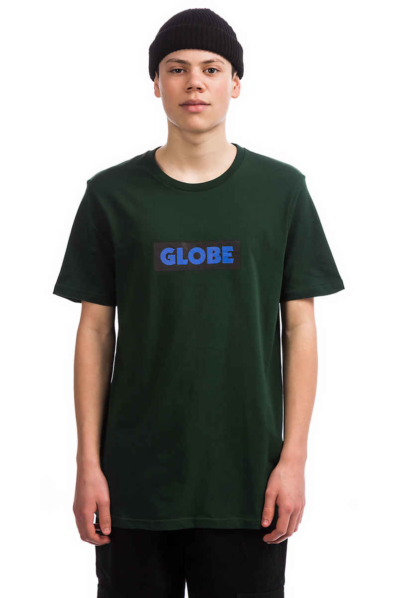 Globe Box T-Shirt (bottle green)