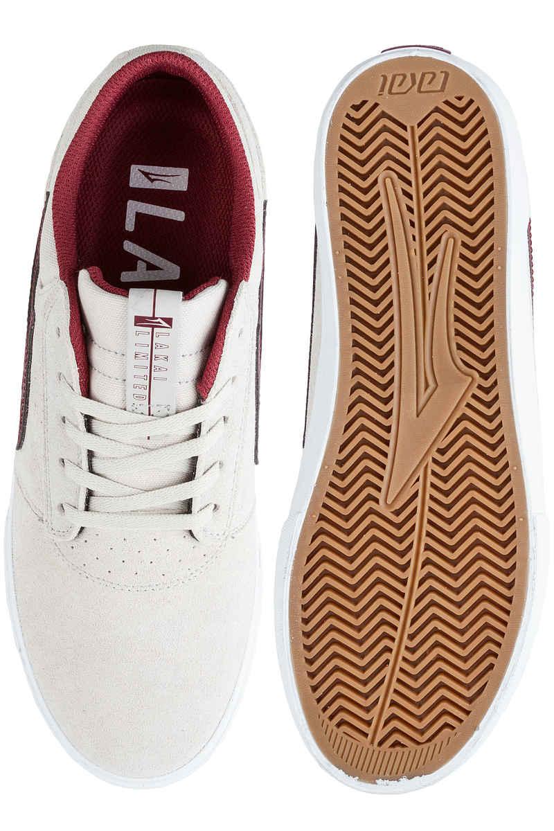 Lakai Griffin Suede Chaussure (white burgundy)