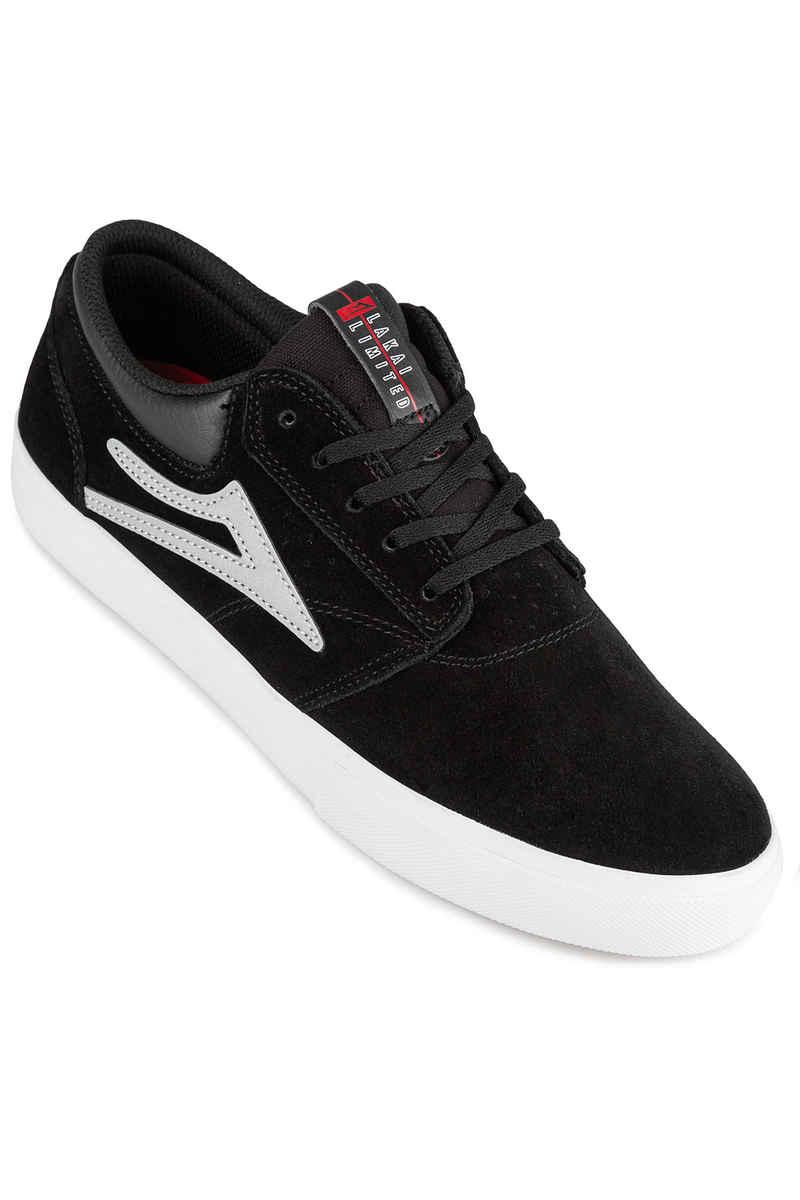 Lakai Griffin Suede Shoes (black reflective)