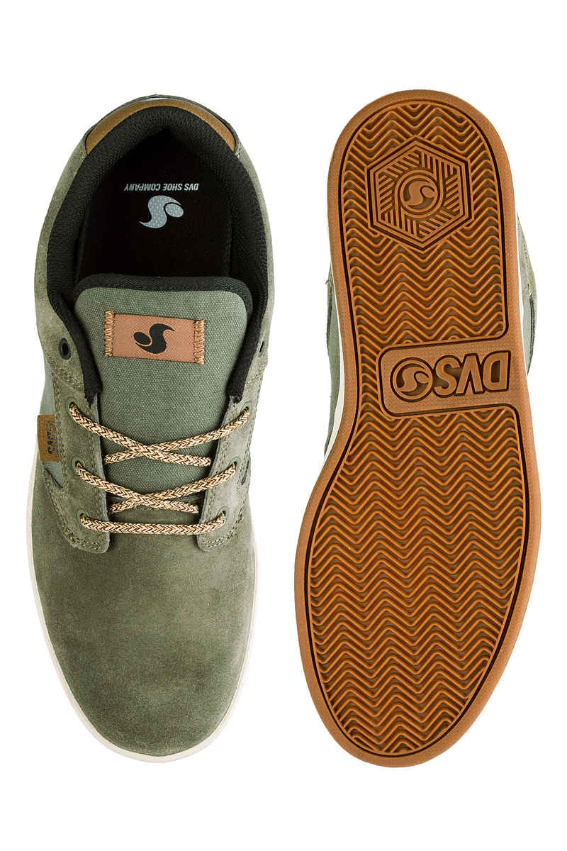 DVS Quentin Suede Shoes (olive)