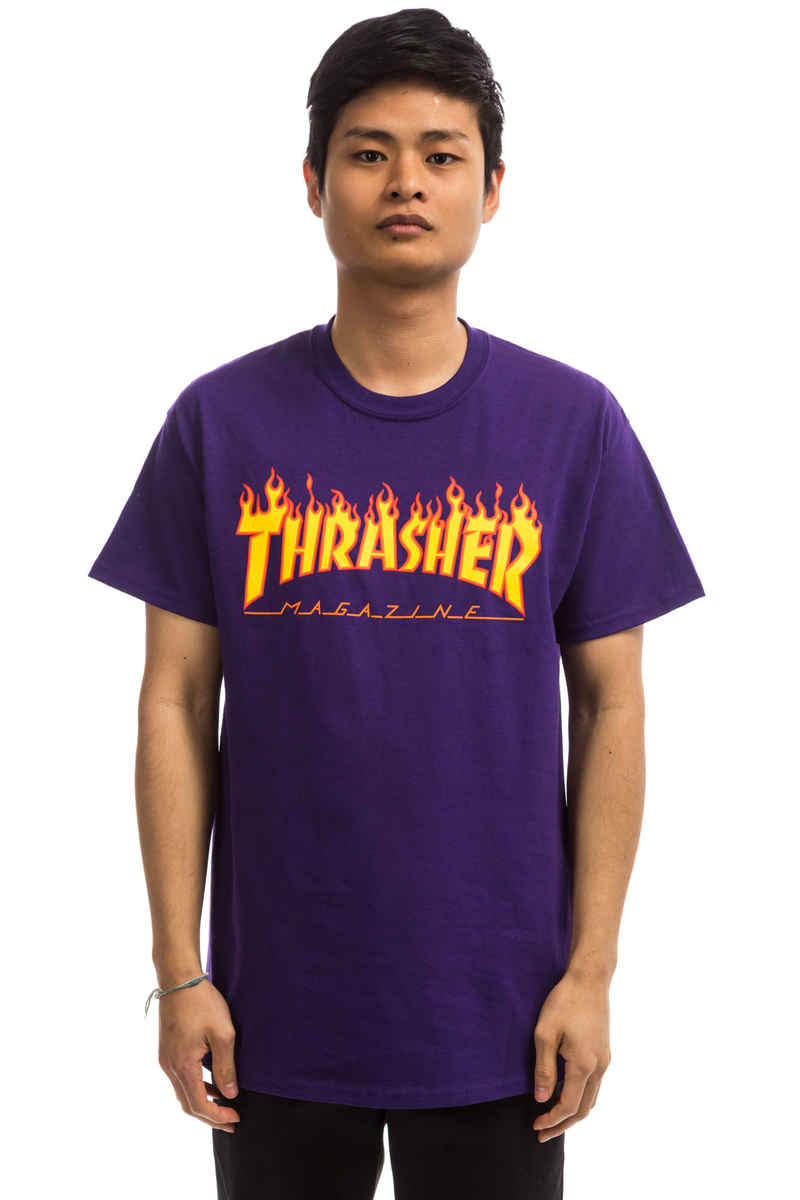 Thrasher Flame T-Shirt (purple)