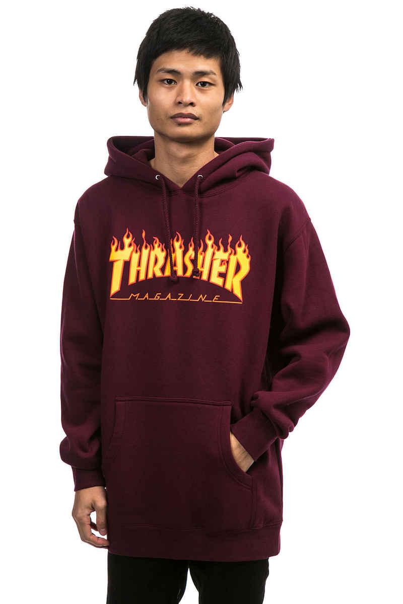 Thrasher Flame Hoodie (maroon)