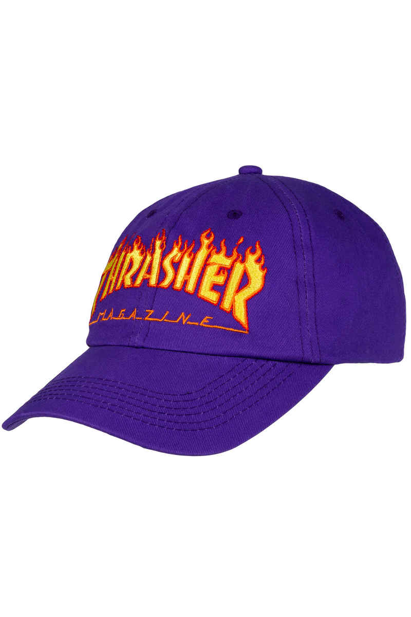 Thrasher Flame Old Timer Hat Casquette (purple)
