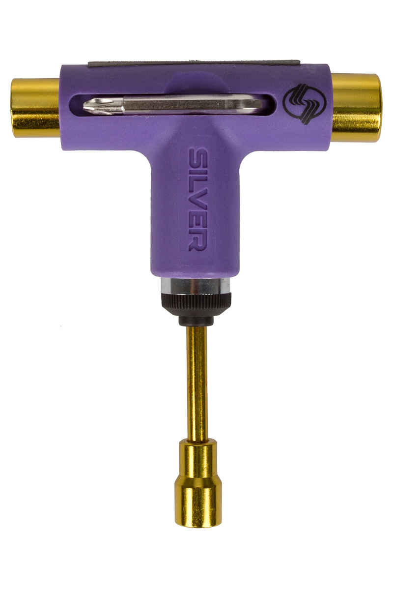 Silver Neon Skate-Tool (purple gold)