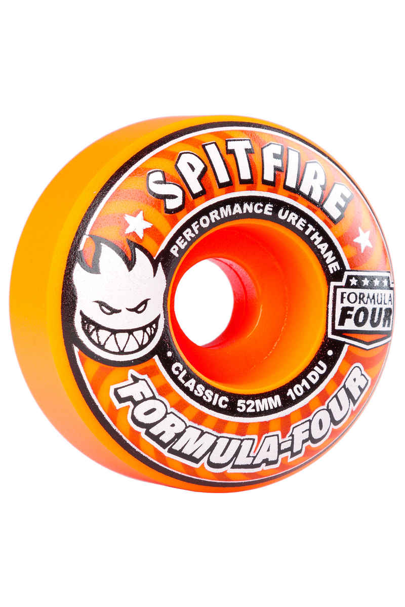 Spitfire Formula Four Classic Agent Wheels (orange) 52mm 101A 4 Pack
