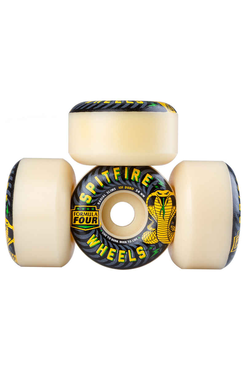 Spitfire Formula Four Radial Slimspeed Roue 54mm 101A 4 Pack