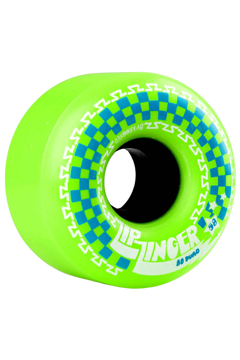 Krooked Zip Zingers Roue (green green) 58mm 4 Pack 80A