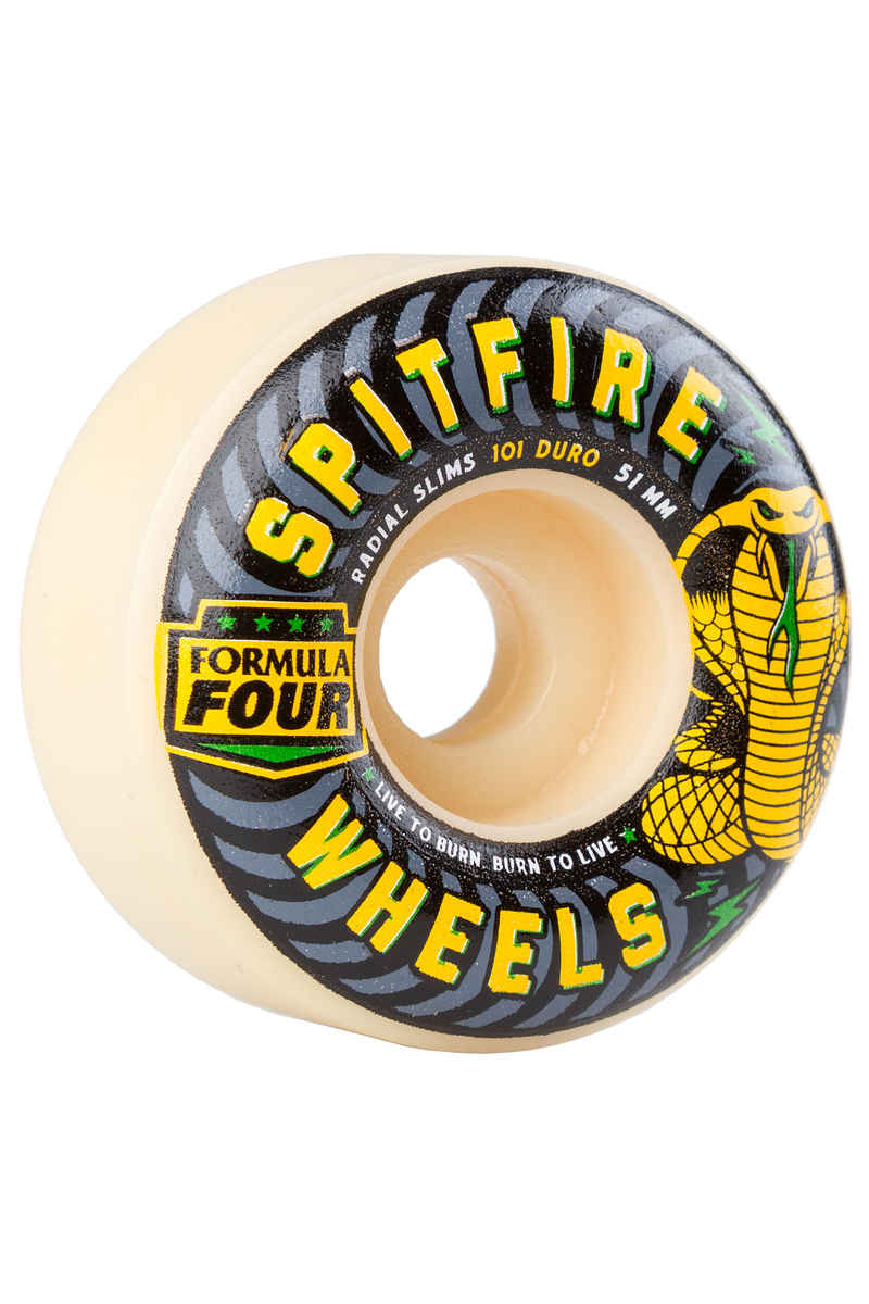 Spitfire Formula Four Radial Slimspeed Wheels 51mm 101A 4 Pack