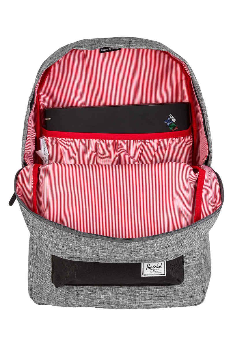 Herschel Heritage Backpack 21,5L (raven crosshatch black lea)