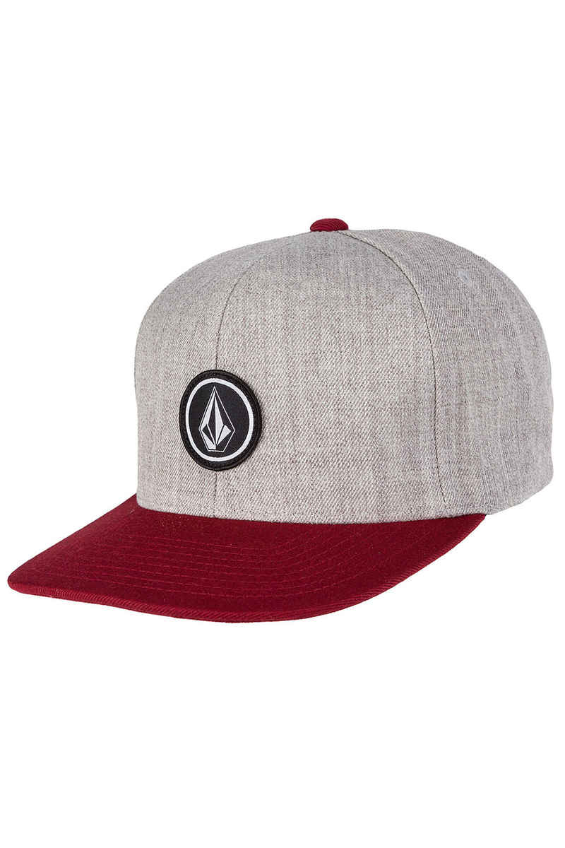 Volcom Quarter Twill Snapback Cap (crimson)