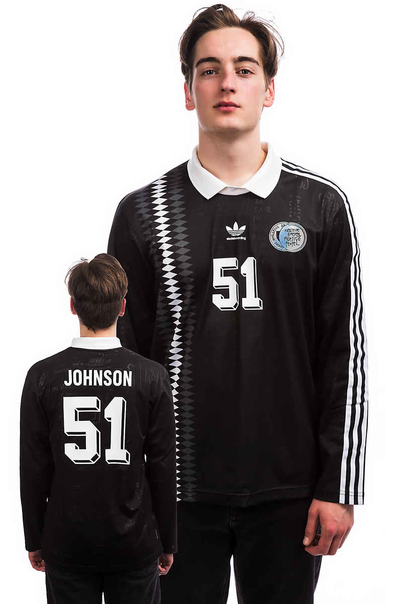 adidas Skateboarding Johnson Jersey Longues Manches (black)