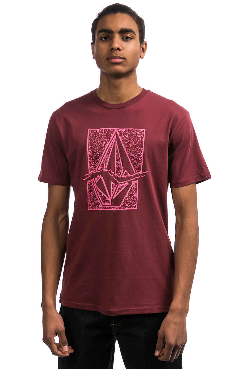 Volcom Rip Stone T-Shirt (crimson)