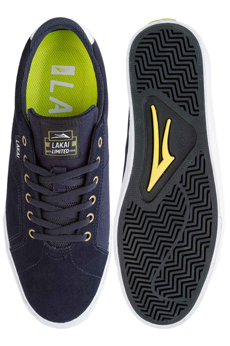 Lakai Flaco Suede Shoes (navy white)