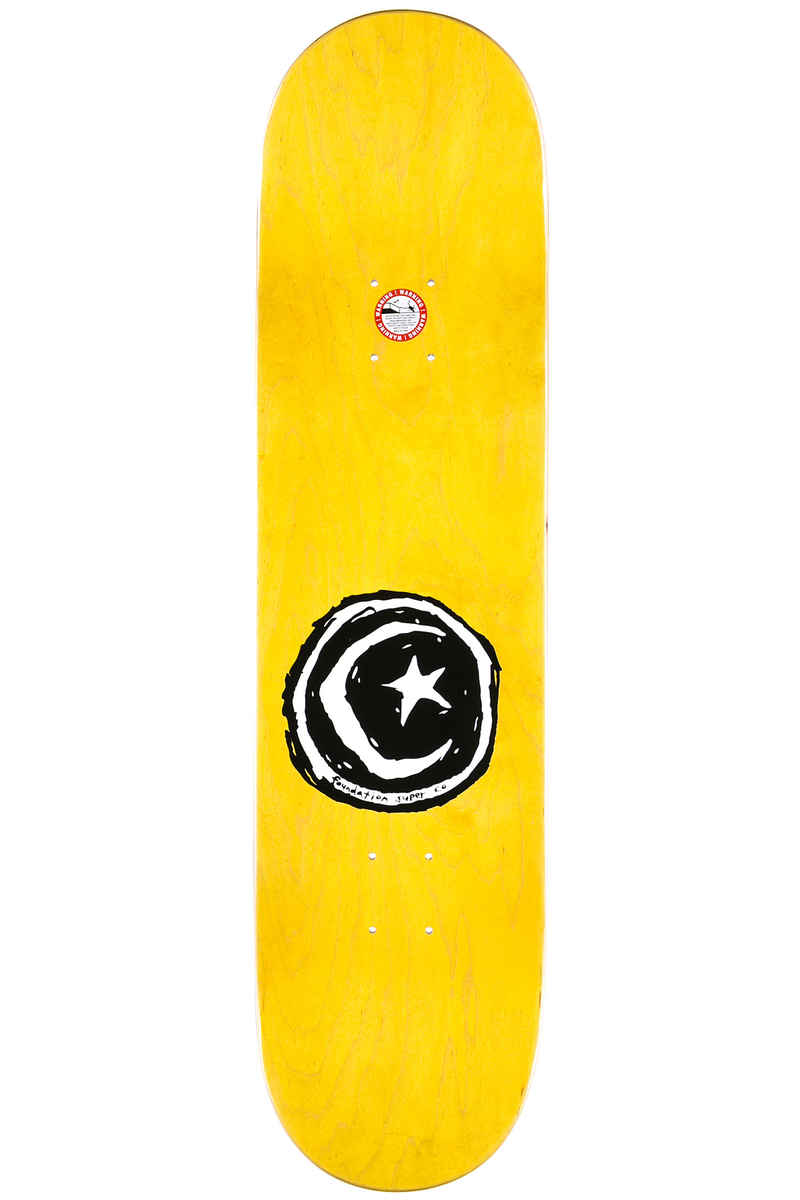 "Foundation Wilson 8.375"" Deck (white red)"