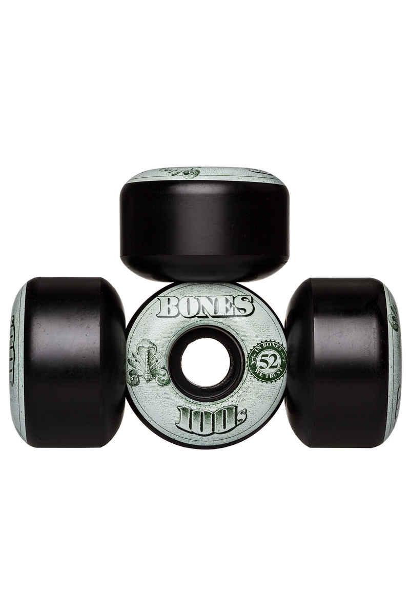 Bones 100's-OG #16 52mm Wheels (black) 4 Pack