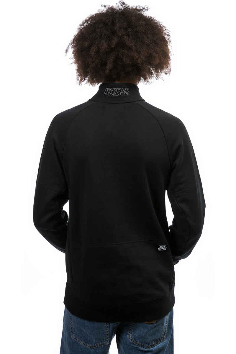Nike SB Everett Mock Sweatshirt (black dark grey)