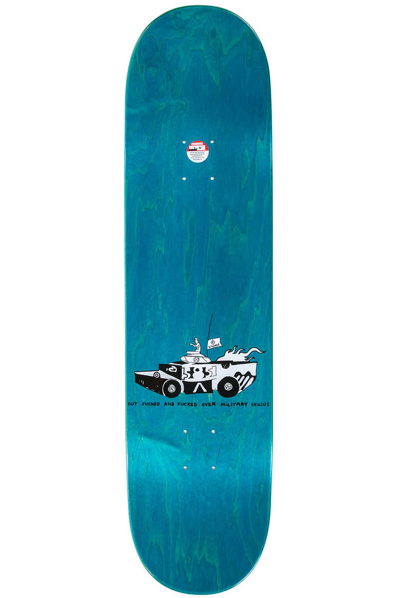 "Krooked Gonzales Military Genius 8.5"" Planche Skate (black)"
