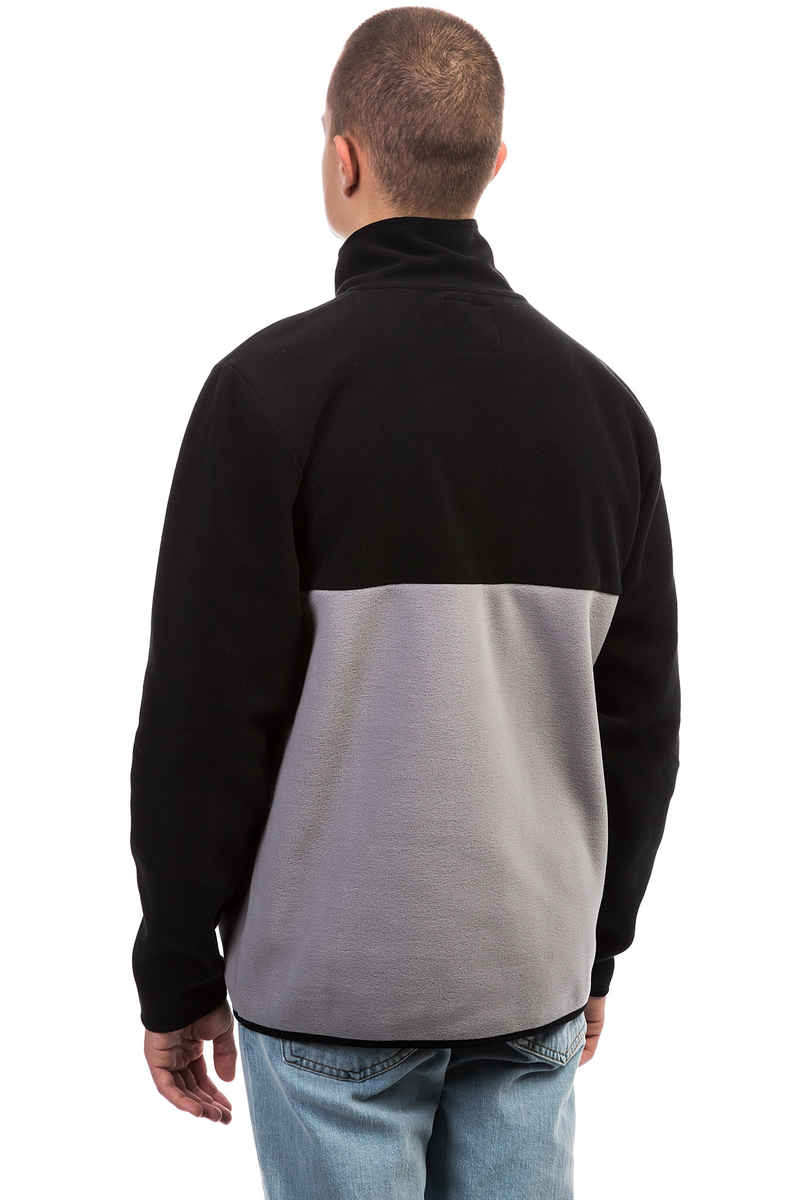 SK8DLX Square Fleece Half Zip Sweatshirt (black grey)