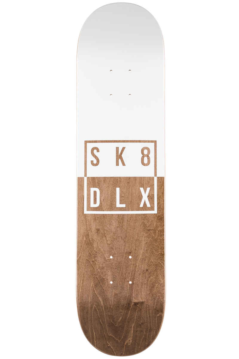 "SK8DLX Two Face Series 7.75"" Deck (white brown)"
