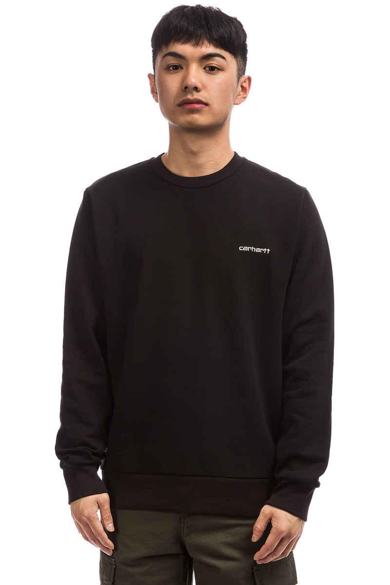Carhartt WIP Script Embroidery Sweatshirt (black wax)
