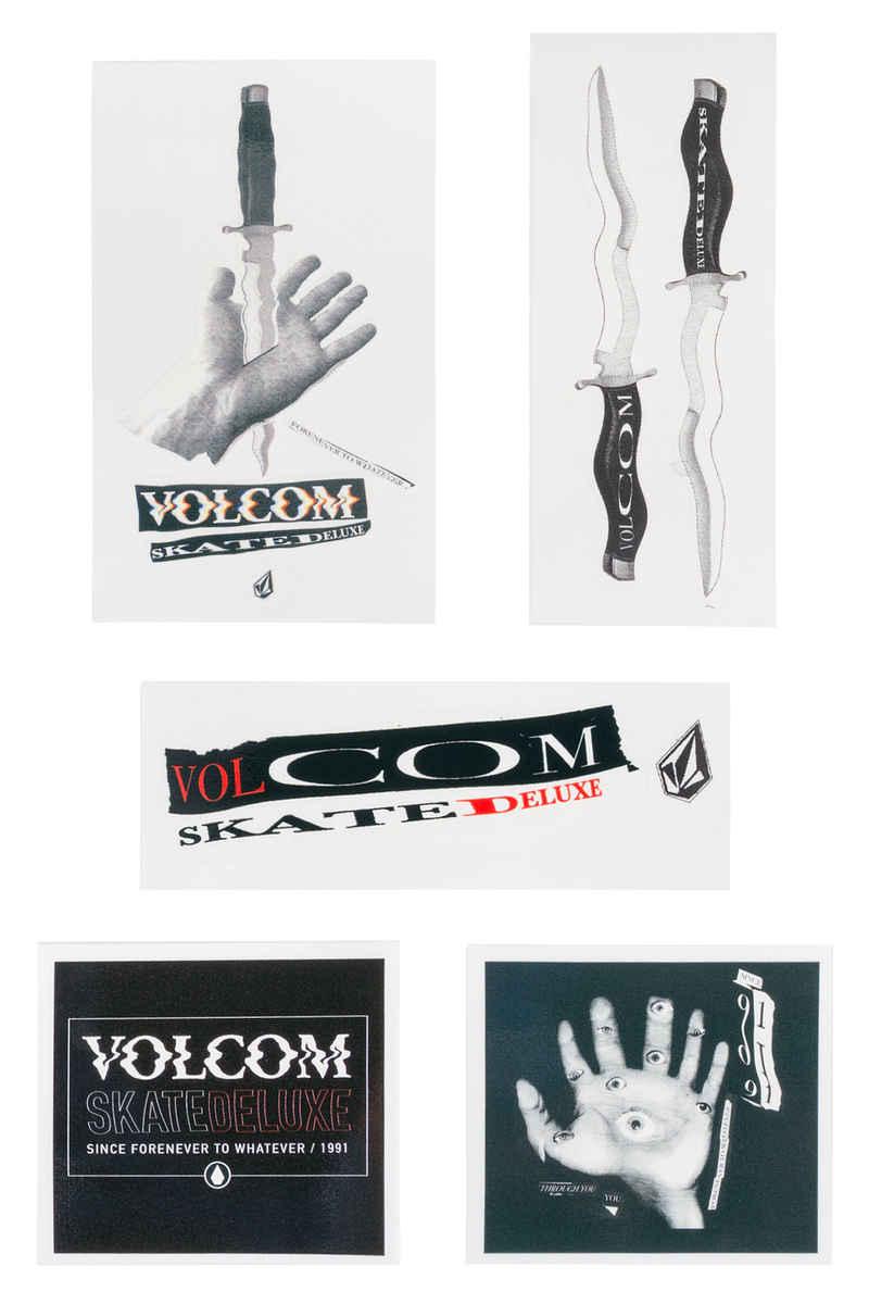 SK8DLX  x Volcom Collab Sticker  (multi) 5er Pack