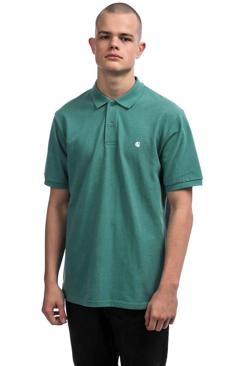 Carhartt WIP Madison Polo-Shirt (soft teal white)